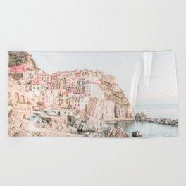 Positano, Italy Amalfi Coast Romantic Photography Beach Towel