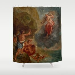 "Eugène Delacroix ""Winter from a series of the Four Seasons (Juno and Aeolus)"" Shower Curtain"