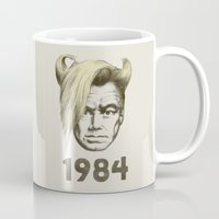 1984 Mugs featuring 1984 by Eric Fan