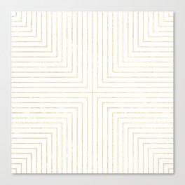 Converge Three Gold Canvas Print