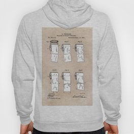 patent - Wheeler - Wrapping or Toilet paper roll - 1891 Hoody