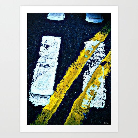 Road Markings Art Print