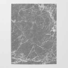 Grey Marble Poster
