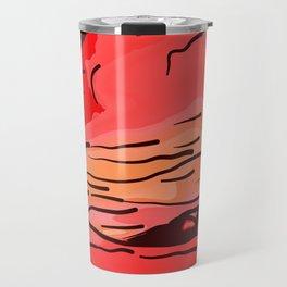 abstract style aurora borealis absdr Travel Mug