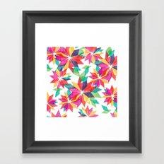 Geo Floral Framed Art Print