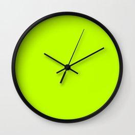 Bitter lime neon green yellow Wall Clock