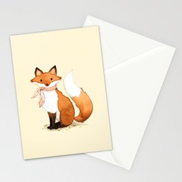 Fox . watercolor painting Stationery Cards