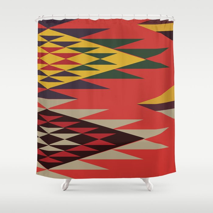 American Native Pattern No. 131 Shower Curtain