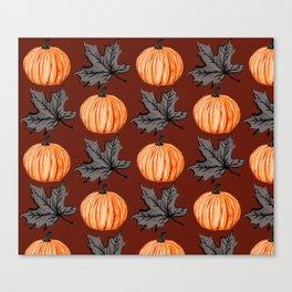 Rusty Pumpkin Autumn Leaf Canvas Print