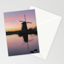 Sunset at Kinderdijk in Holland Stationery Cards