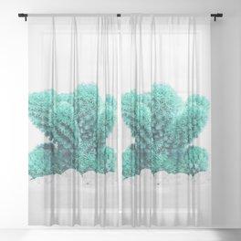 Modern Cactus V Sheer Curtain