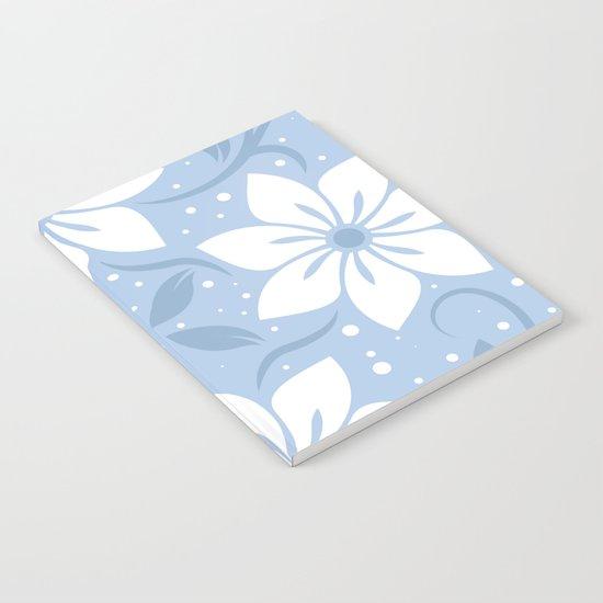 Magical Blue Flower Pattern Notebook