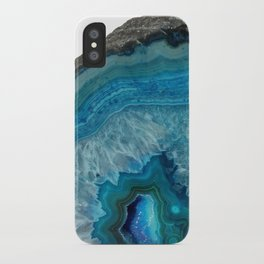 Blue Agate Geode Crystals iPhone Case