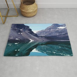Bow Lake Water Reflections in the Canadian Rockies Rug