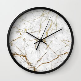 Gold Glitter and Marble Wall Clock