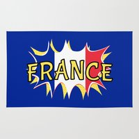 france Area & Throw Rugs featuring France by mailboxdisco