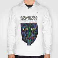 vonnegut Hoodies featuring Vonnegut - Canary in a Cat House by Neon Wildlife