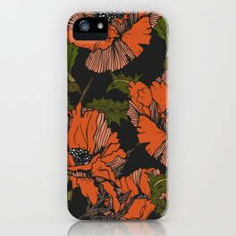 Autumnal flowering of poppies iPhone Case