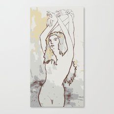 Girl with hands Canvas Print