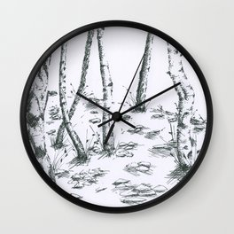 Winter Trees (Maxine Lee) Wall Clock