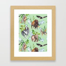 Native American Animals Framed Art Print