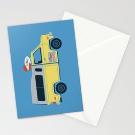 Galactic Pizza Van Stationery Cards