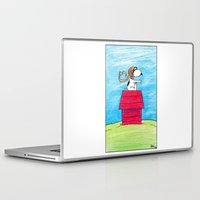 snoopy Laptop & iPad Skins featuring pilot Snoopy by DROIDMONKEY