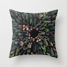 focus flowers Throw Pillow