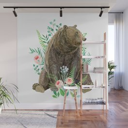 bear sitting in the forest Wall Mural