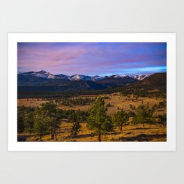 Rocky Mountain High - Moonlight Drenches Colorado Landscape Art Print