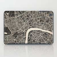 london map iPad Cases featuring London map by NJ-Illustrations