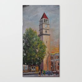 Tirana Clock by Frederik Proko Canvas Print
