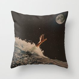 Wave goodbye Throw Pillow