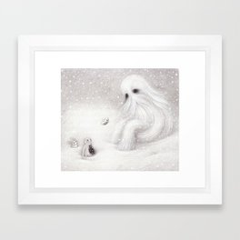 A Yeti Framed Art Print