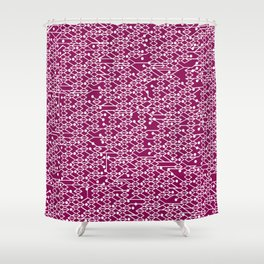 Microchip Pattern (Purple) Shower Curtain