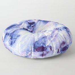 Purple Marble Floor Pillow