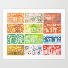 You Are. Art Print