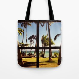 Tropical Fiji Beach Scene Tote Bag