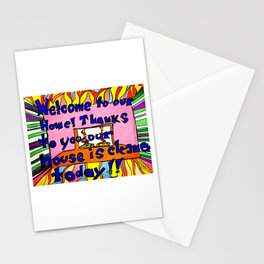 Welcome to our home! Stationery Cards