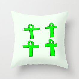 Ankh- crux ansata 13 Throw Pillow