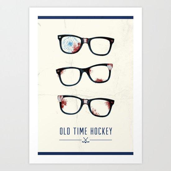 Slapshot - Old Time Hockey Art Print