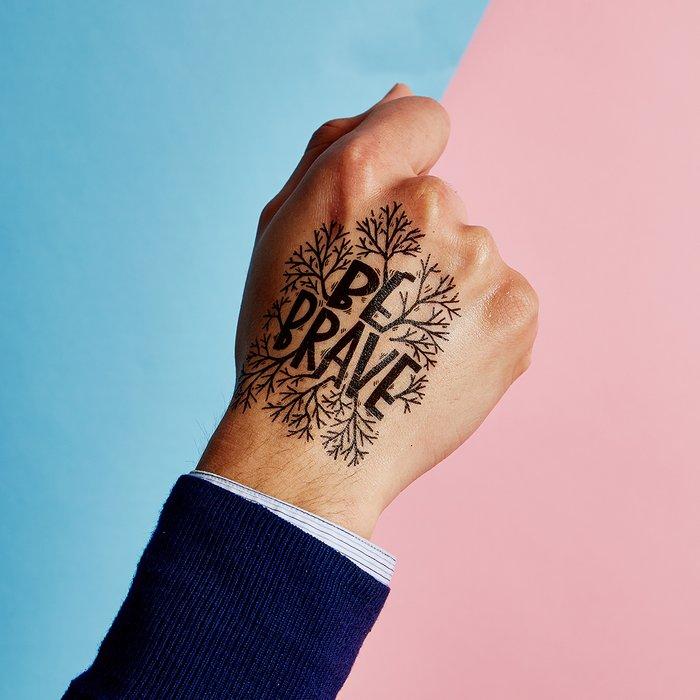Be Brave Temporary Tattoos by Matthew Taylor Wilson x Tattly