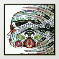 psychadelic Canvas Prints featuring Psychadelic Storm Trooper by Just Bailey Designs .com