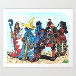 #SquadGoals Art Print