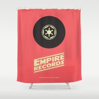 records Shower Curtains featuring Empire Records by mattranzetta