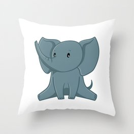 Elephant - Zoo Animals Throw Pillow