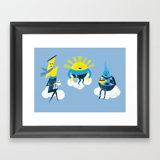 Sweater Weather Framed Art Print