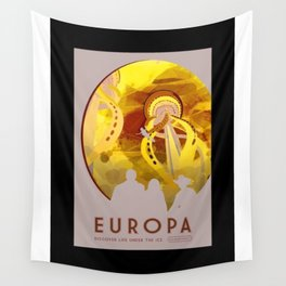 Europa - NASA Space Travel Poster (Alternative) Wall Tapestry