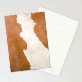 Brown Cowhide v3 Stationery Cards