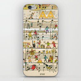 happy tunes iPhone Skin